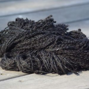Handspun Yarn – textured natural black suri