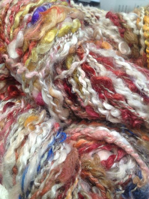 Art Yarn – White/orange/red