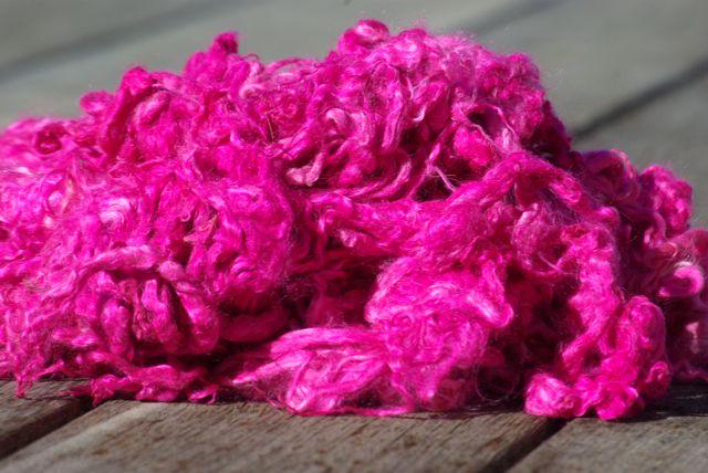 Hand-dyed Suri Locks – Hot Pink
