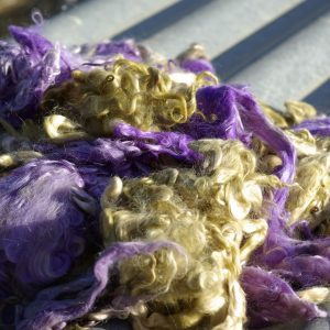 Hand-dyed Suri Locks – Periwinkle