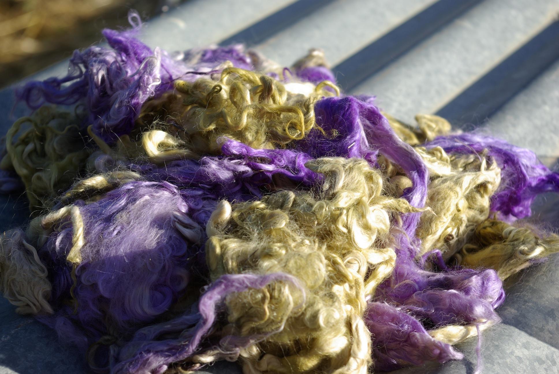 Hand-dyed Suri Locks – Periwinkle