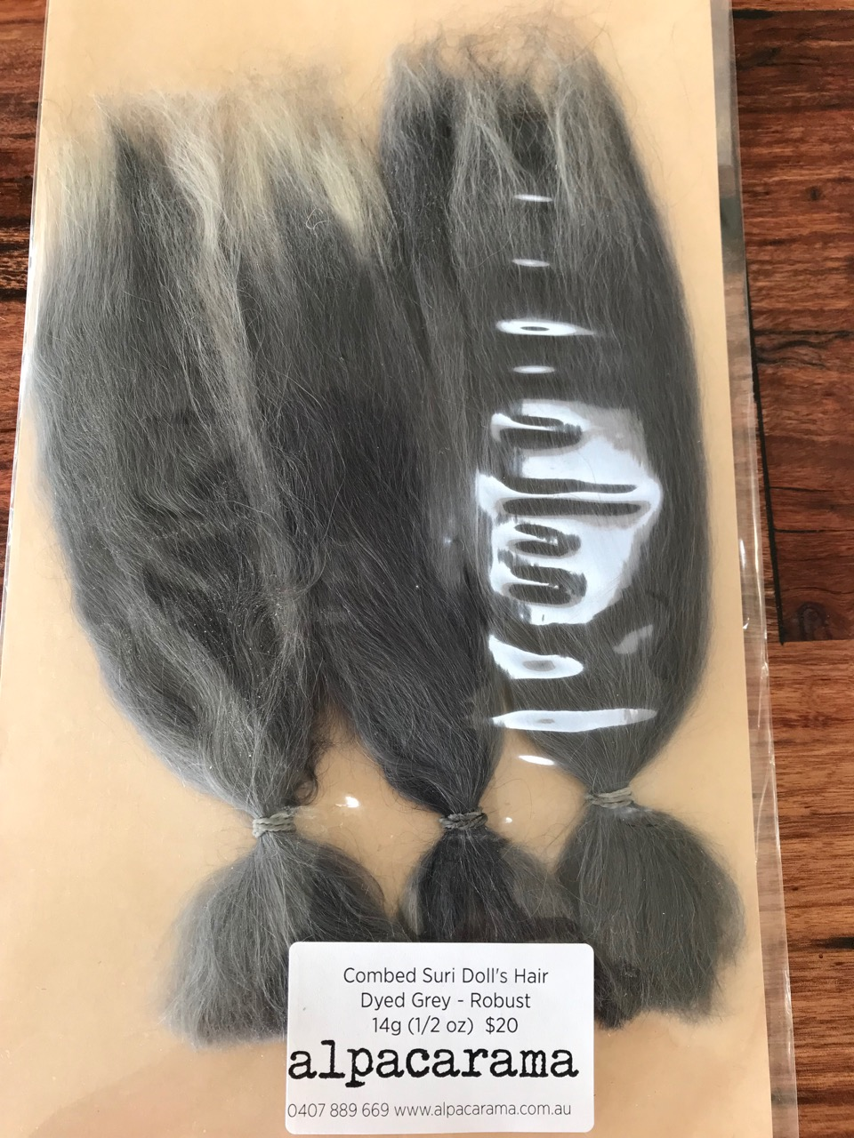 Combed Doll's Hair – Dyed Grey Ombre – Robust