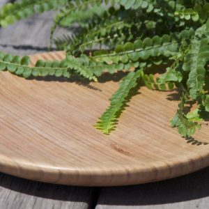 Hand crafted wooden plate – Tasmanian Oak, medium
