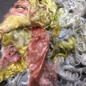 Hand-dyed Suri Locks – Precious Metals