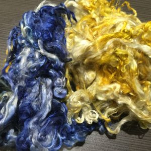 Hand-dyed Suri Locks – Blue Bayou