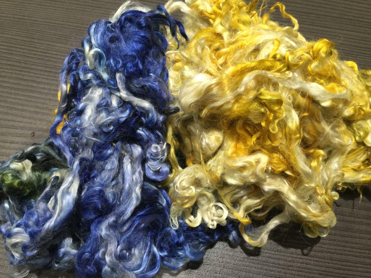 Hand-dyed Suri Locks – Blue Bayou