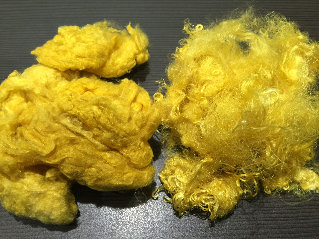 Hand-dyed Silk Noils and Silk Waste – Yellow Submarine