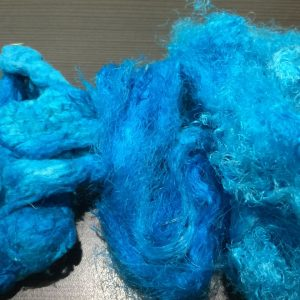 Hand-dyed Silk Noils and Silk Waste – Strathbogie Sky