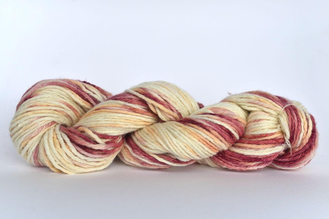 Hand Dyed Alpaca Blend Yarn – Light Oxblood