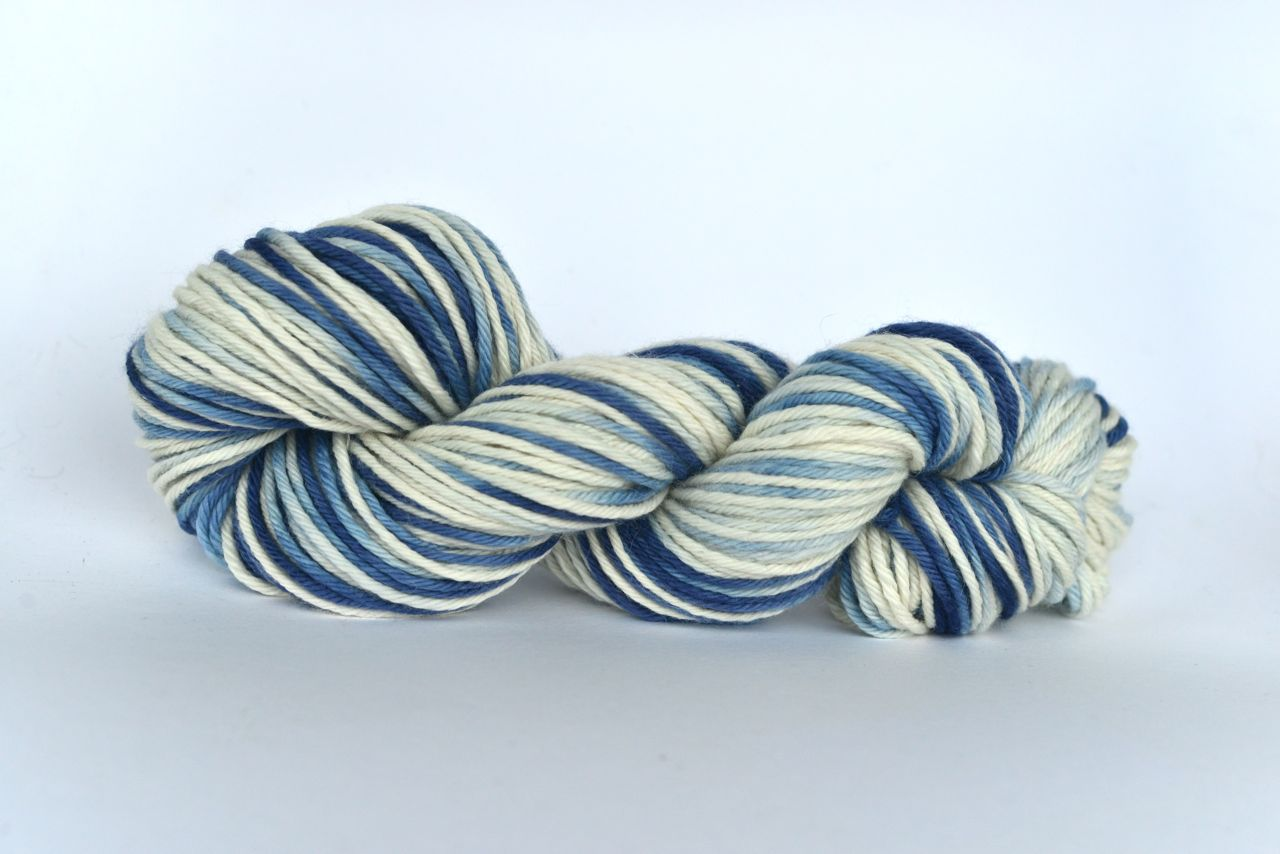 Hand Dyed Alpaca Blend Yarn – Acid wash Denim