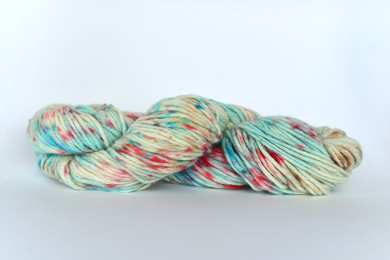 Hand Dyed Alpaca Blend Yarn – Blue Speckles