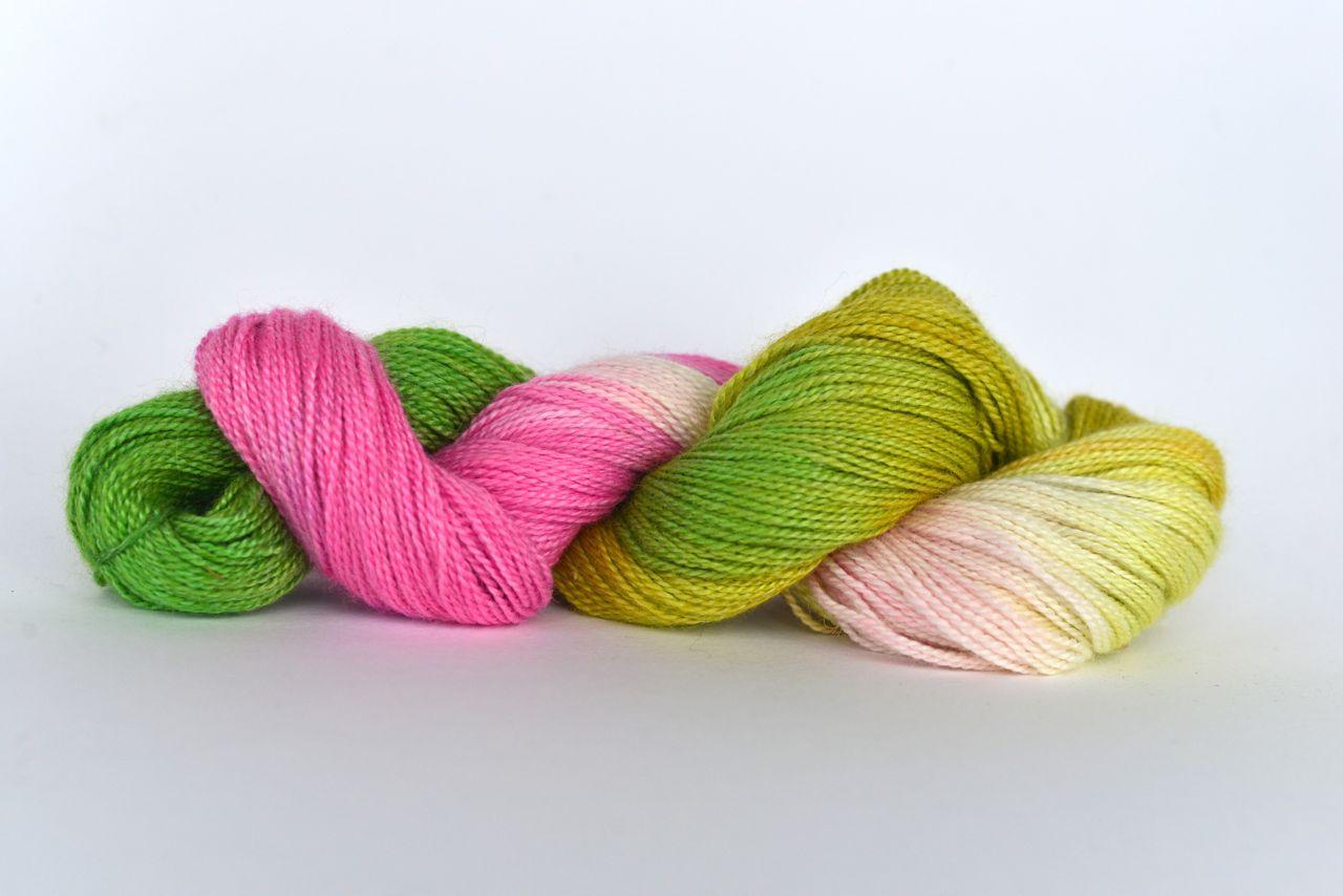Hand Dyed Bamboo/Alpaca Blend Yarn – Tulip