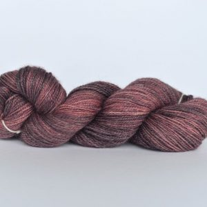 Hand Dyed Bamboo/Alpaca Blend Yarn – Mulberry