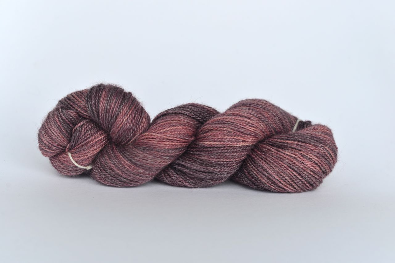Hand Dyed Bamboo/Alpaca Blend Yarn – Mulberry