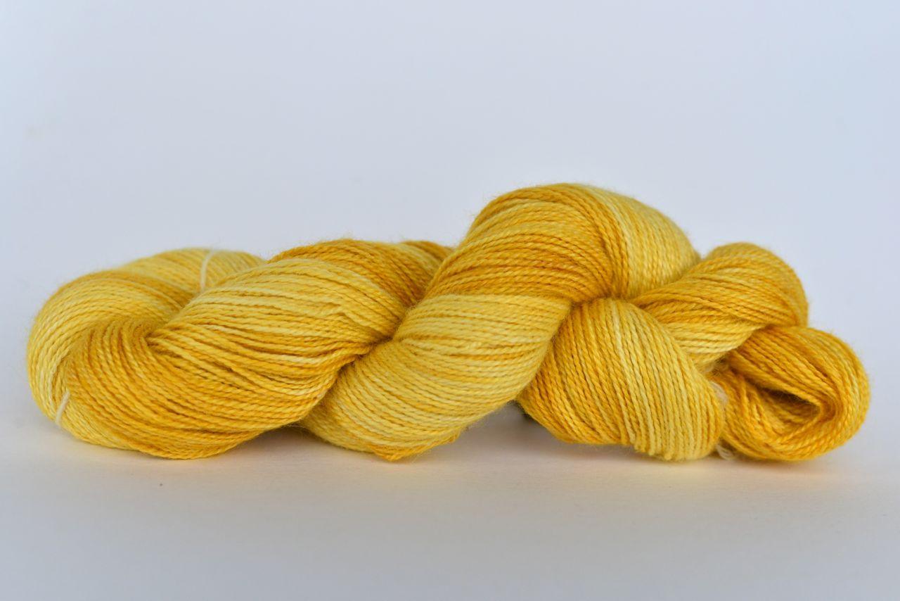 Hand Dyed Bamboo/Alpaca Blend Yarn – Yellow Peril