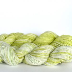 Hand Dyed Bamboo/Alpaca Blend Yarn – Charteuse gradient set