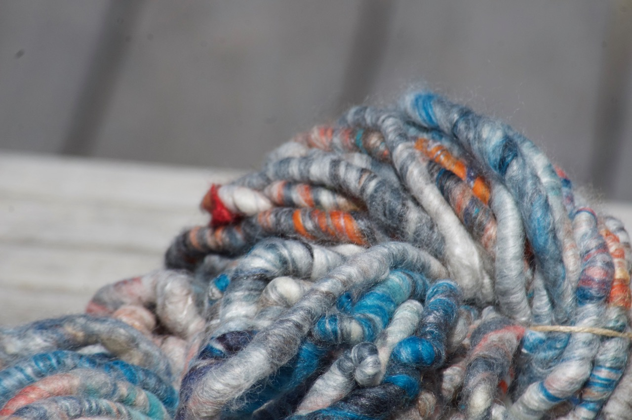 Super Chunky Yarn – Greys/Blue/Orange