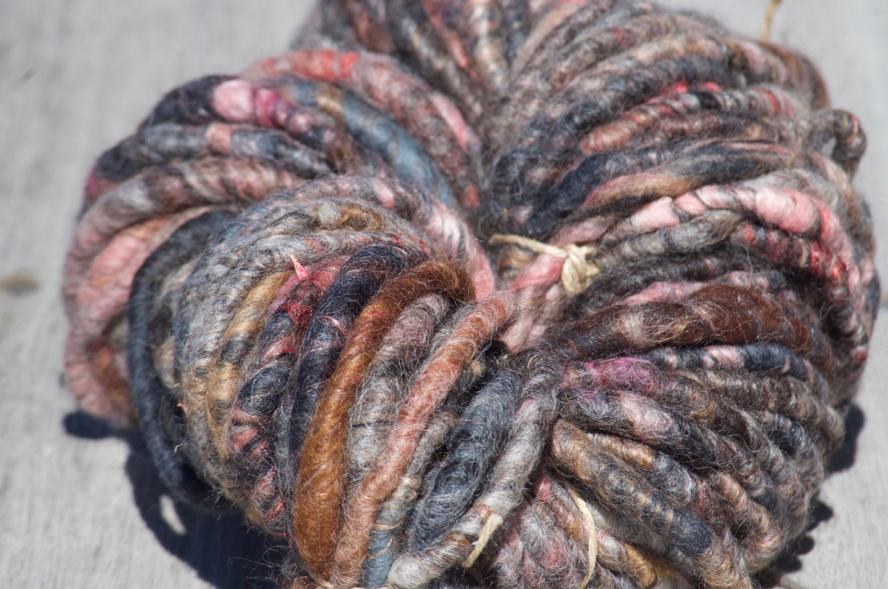 Chunky Yarn – Charcoal + pinks