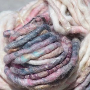 Chunky Yarn – White/Pink/Grey Gradient