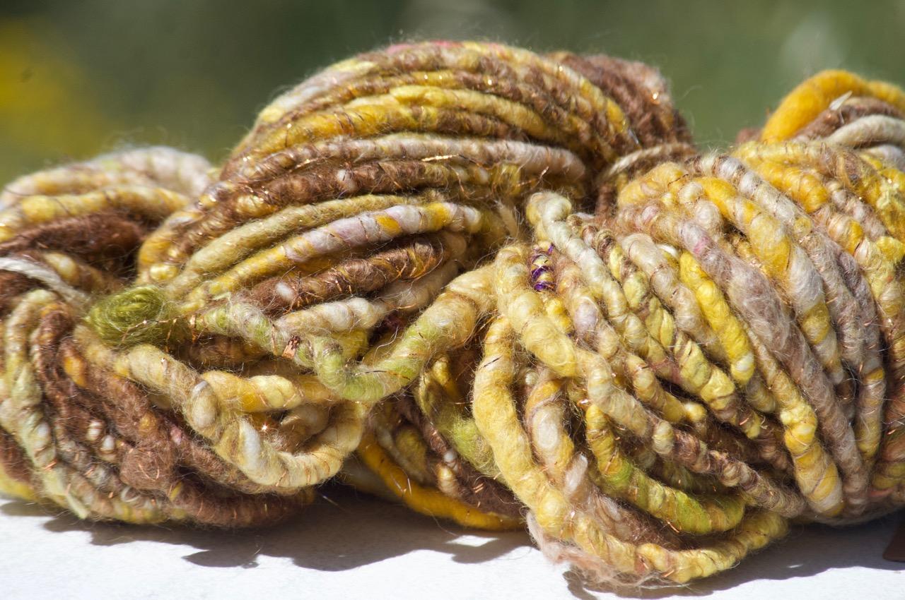 Chunky Yarn – Yellow + copper