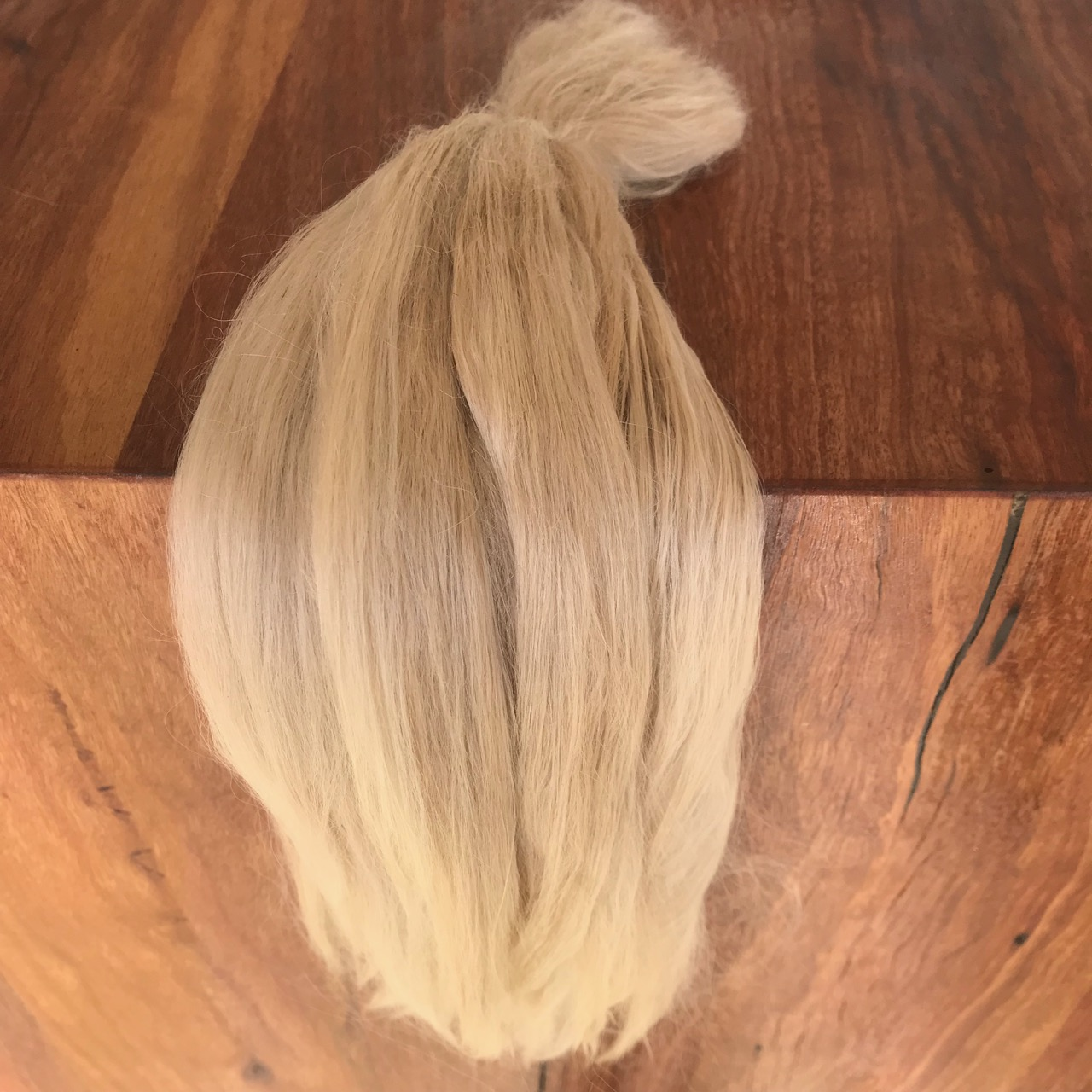 Combed Doll's Hair –  Long Ash Blonde – Fine