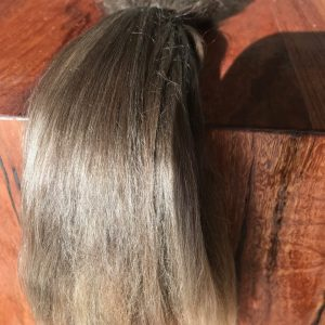 Combed Doll's Hair –  Long Taupe (grey-brown) – Fine