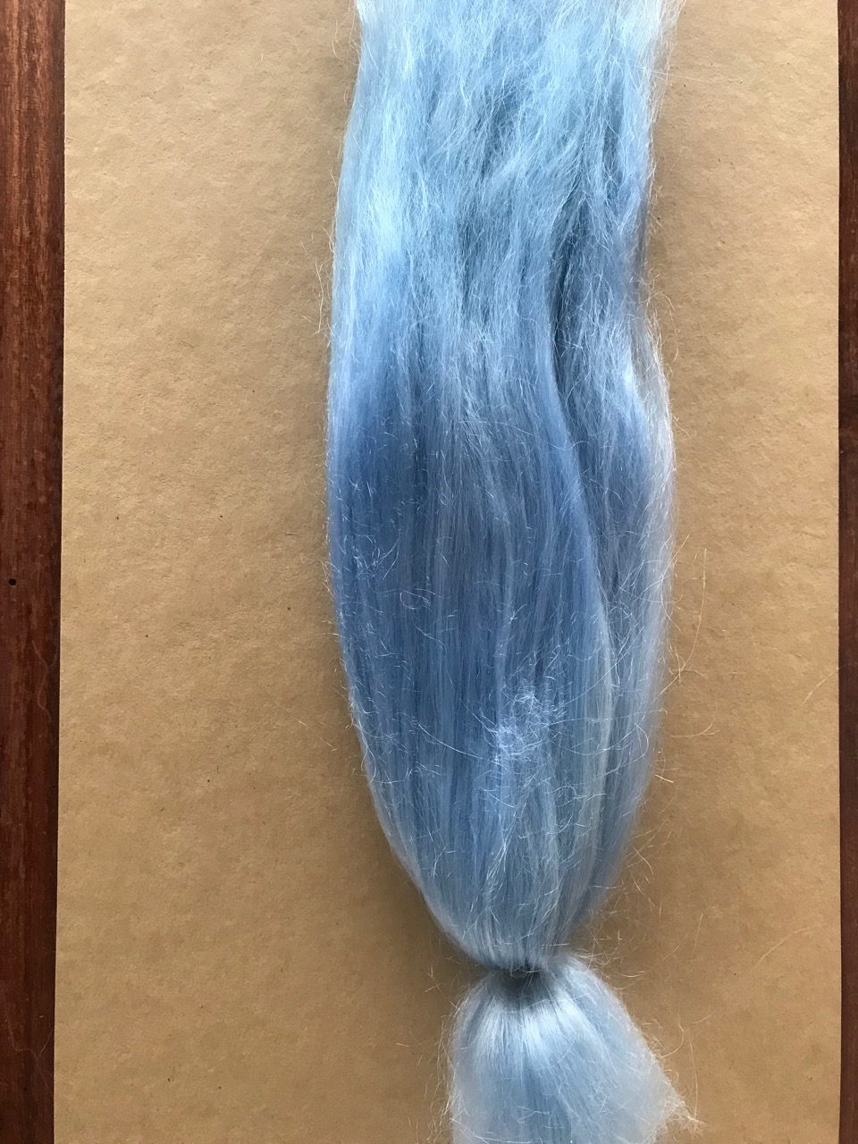 Combed Doll's Hair – Dyed Pale Blue – Fine
