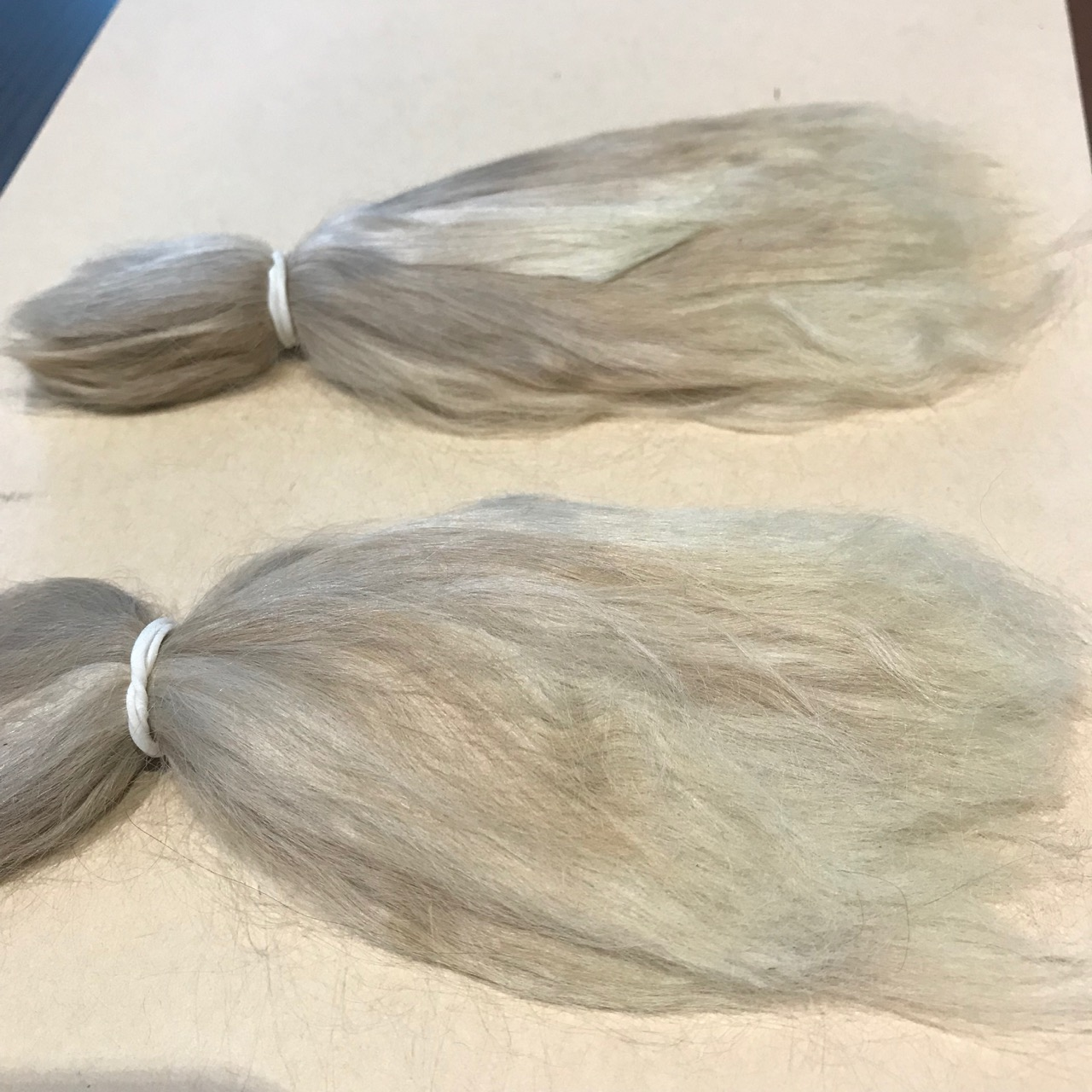 Combed Doll's Hair –  Ash Blonde – Baby fine