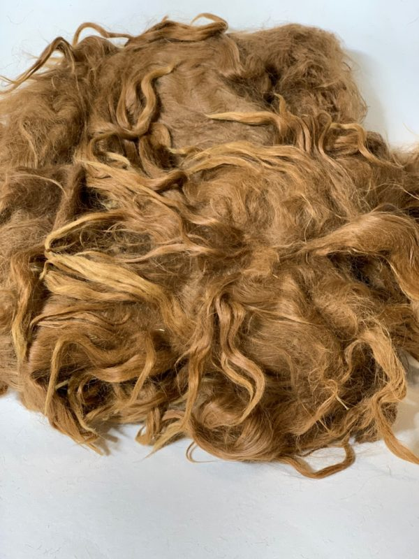Raw Suri Fleece – Light Brown