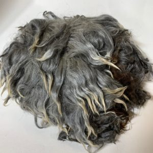 Raw Suri Fleece –  Silver Grey Fine