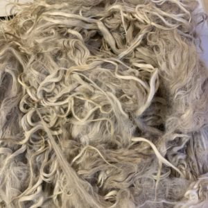 Raw Suri Fleece – White Baby Fine 29 cm