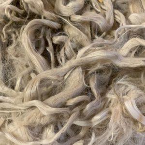 Raw Suri Fleece – White Baby Fine 30 cm