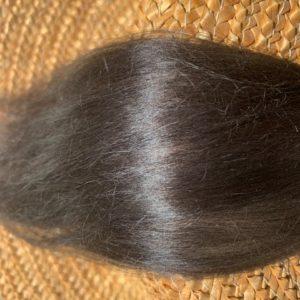Raw Suri Fleece – Dark Brown/Black Fine 24 cm