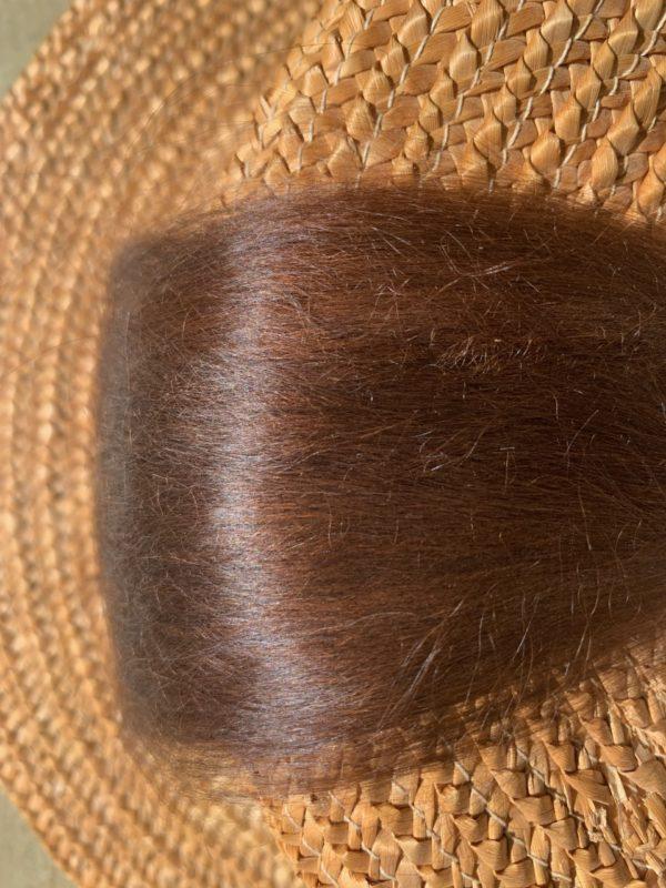 Raw Suri Fleece – Medium Brown Fine 22 cm