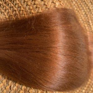 Raw Suri Fleece – Auburn Baby Fine 26 cm