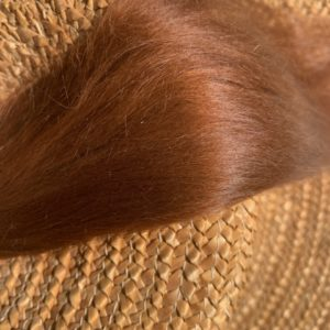 Raw Suri Fleece – Auburn Fine 26 cm